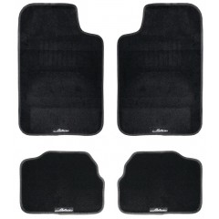 Ковры ковролиновые в салон автомобиля универсальные, комплект из 4х ковров, цвет - черный, ACM-CM-05