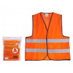 Жилет со светоотражающими полосами, взрослый, р. XL (65*65 см), оранжевый, ARW-AV-04