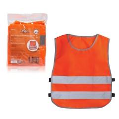 Жилет со светоотражающими полосами, детский цвет оранжевый, р. 30-34 (58*51 см), ARW-CV-03