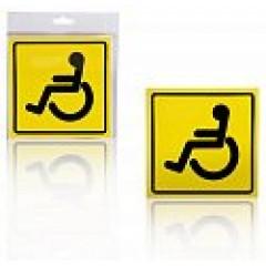 "Знак ""Инвалид"", внутренний, самоклеящийся (150*150 мм), в уп. 1шт., AZN12"