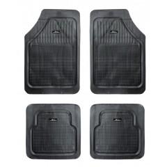 Ковры с высоким бортиком в салон автомобиля полимерные мелкоячеистые универсальные, цвет - черный, комплект из 5ти ковров, ACM-RM-01