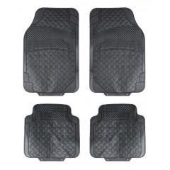 Ковры полимерные универсальные в салон автомобиля, цвет - черный, комплект из 4-х ковров, ACM-RM-02