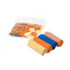 """Набор салфеток """"рулончики"""" из микрофибры (4шт., 20*20 см), AB-V-02"""
