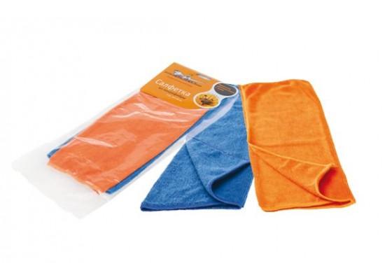 Набор салфеток из микрофибры, синяя и оранжевая (2 шт., 30*30 см), AB-V-01