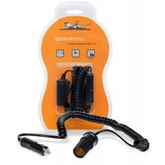 Прикуриватель-удлинитель с витым шнуром 3 м, ASP-3L-06