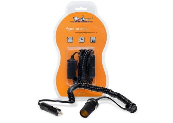 Прикуриватель-удлинитель с витым шнуром 3 м