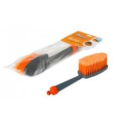 Щетка для мытья с насадкой для шланга, с мягкой распушенной щетиной (33 см), AB-J-02