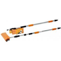 Швабра с насадкой для шланга, щеткой 25см и телескопической ручкой 300см, AB-H-05