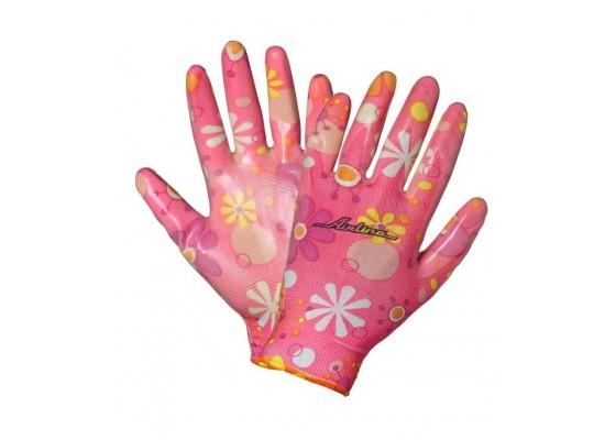 Перчатки нейлоновые женские с цельным полиуретановым покрытием ладони, AWG-NW-09