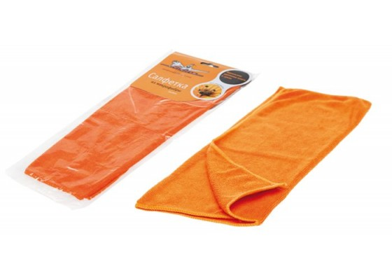 Салфетка из микрофибры оранжевая (35*40 см), AB-A-02