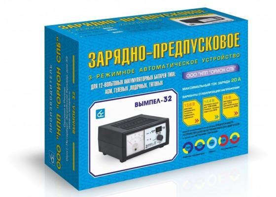 Зарядное устройство Вымпел-32 (автомат, 0-20А, 13.6/14,4/16В ) для гелевых, AGM, лодочных, тяговых АКБ