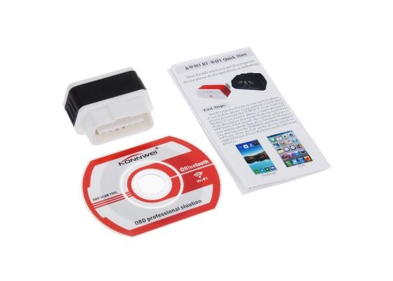 Адаптер § Konnwei KW 903 bluetooth 4.0, OBDII (Apple Iphone, Ipad)