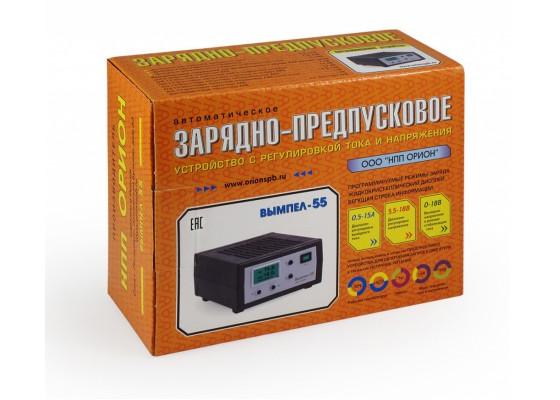 Зарядное устройство Вымпел-55 (автомат, 0-15А, 5-19В, ЖК индикатор)