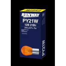 Лампа накаливания PY21W 12В 21Вт (желтая)  (10шт./кор.), RW-PY21W