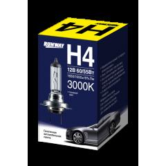 Лампа галогенная автомобильная H4 12В 60/55Вт, RW-H4